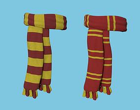 Hogwarts Scarf - Gryffindor - Harry Potter 3D model 1