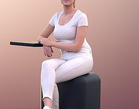 3D model Elena 10670 - Female Doctors Assistant Sitting