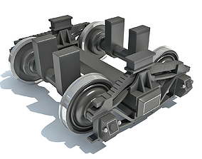 undercarriage 3D model Train Wheels