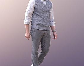 Andrew 10603 - Walking Business Man 3D asset