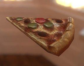 Pizza Slice 3D model realtime