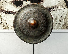 19th Century Laos Bronze Gong 6 3D model architectural