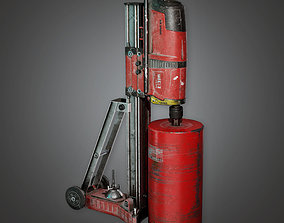 3D asset BHE - Concrete Coring Drill - PBR Game Ready