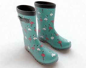 Flamingo Wellies with buckles 3D model