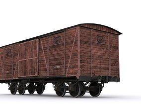 Old Railway carriage 3D asset