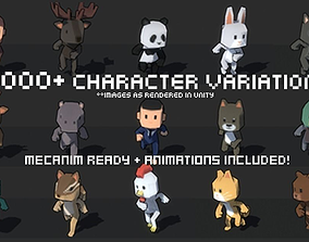 3D model Simple 1000 Characters Pack
