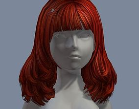 beauty hair 22 3D asset