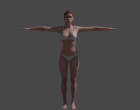 Human Female 3D model rigged