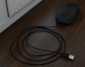 3D asset low-poly Computer Mouse