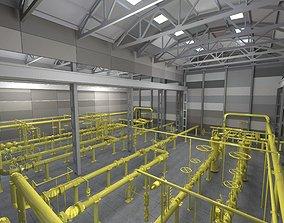 3D Gas distribution station