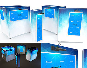 3D model Gallery Painting Stands Mockup