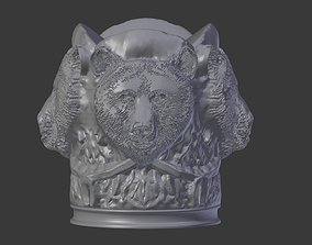 3D print model Bear Head Cigarette Holder