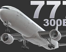 3D asset Boeing 777-300ER