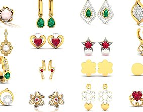 100 LIGHT WT EARRINGS 3D model