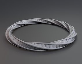 3D printable model Twisted ring math