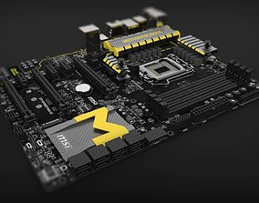 MSI Z97 MPower Max AC LGA 1150 Motherboard 3D model