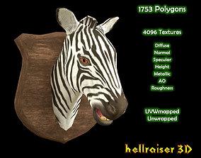 3D asset Zebra Head - PBR - Textured