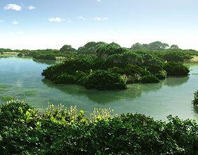 3D model Lagoon in Vue