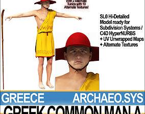 Ancient Greek Common Man A 3D