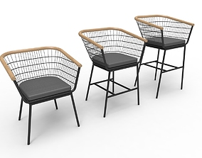 3D printable model Wire Barrel Chair Collection