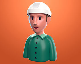 Supervisor de construccion cartoon 3D model