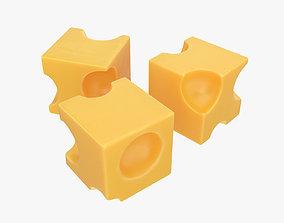 Cheese cubes 3D model