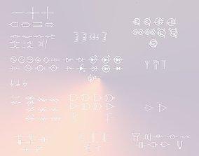 100 Electrical - Electronic Circuit Symbols 3D