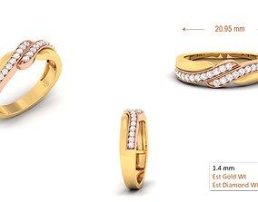 3D print model Wedding band engagement ring10