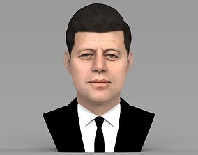 John F Kennedy bust ready for full color 3D