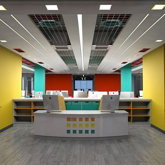 IT center interior design and furniture