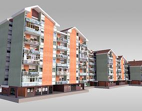 Suburban Condos 4 3D asset