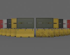 3D asset PBR Concrete Roadblock Barrier V7