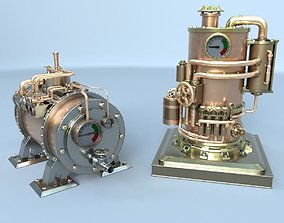 Steampunk boiler collection 3D