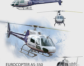 Eurocopter AS-350 MercyAir 3D model