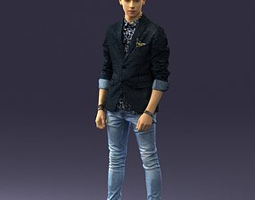 Stylish teen in a jacket and jeans 0191 3D Print Ready