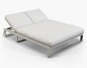 3D model Gandia Blasco Flat chill bed with wheels