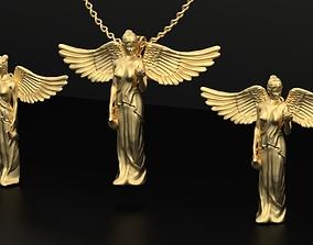 angel pendant Earring 3D print model