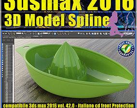 042 3ds max 2016 3D Model Spline v42 Italiano cd