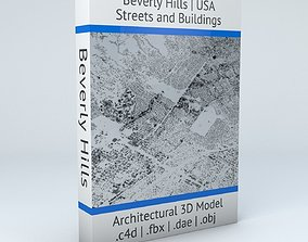3D model Beverly Hills Streets and Buildings