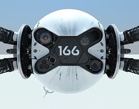 Drone 166 from the movie Oblivion 3D printable model