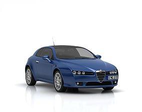 sportcar Alfa Romeo Brera 3D model