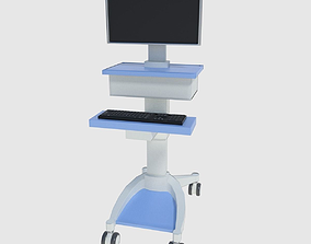 3D asset Medical Computer Cart - Low and High Poly
