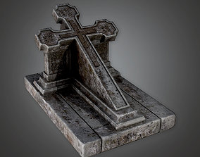 CEM - Grave Stone Cemetery 14 - PBR Game Ready 3D model