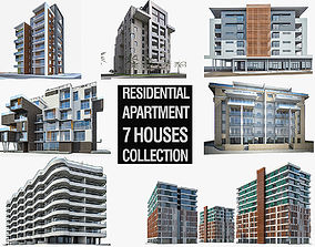 Residential Buildings Collection - 7 Pack 3D model