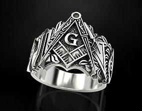 3D print model Mason Man ring 4