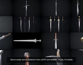 3D model Game ready sword Collection from LOTR and HOBBIT