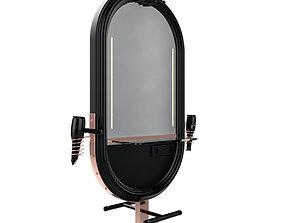 hairdresser table mirror black copper 3D