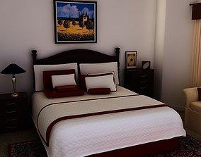 3D Bed White plus bedroom