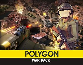 POLYGON - War Pack 3D asset rigged