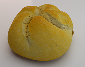 White Bread 3D model realtime